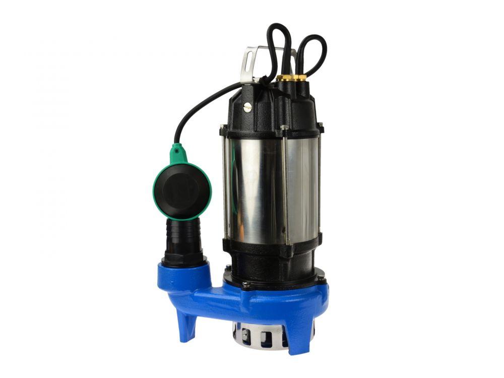 Kalové čerpadlo do studny a septiku 750W s plovákem a drtičem nikl WQD10-10-0.75 GEKO PREMIUM