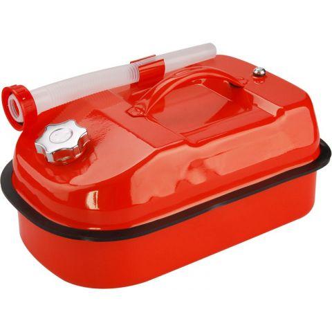 Kanystr ocelový na benzín, 10l, s hubicí a upouštěcím ventilem na vzduch, EXTOL PREMIUM