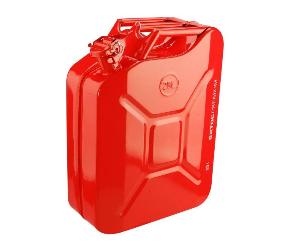 Kanystr ocelový na benzín, 20l, EXTOL PREMIUM Nářadí-Sklad 1   3.6