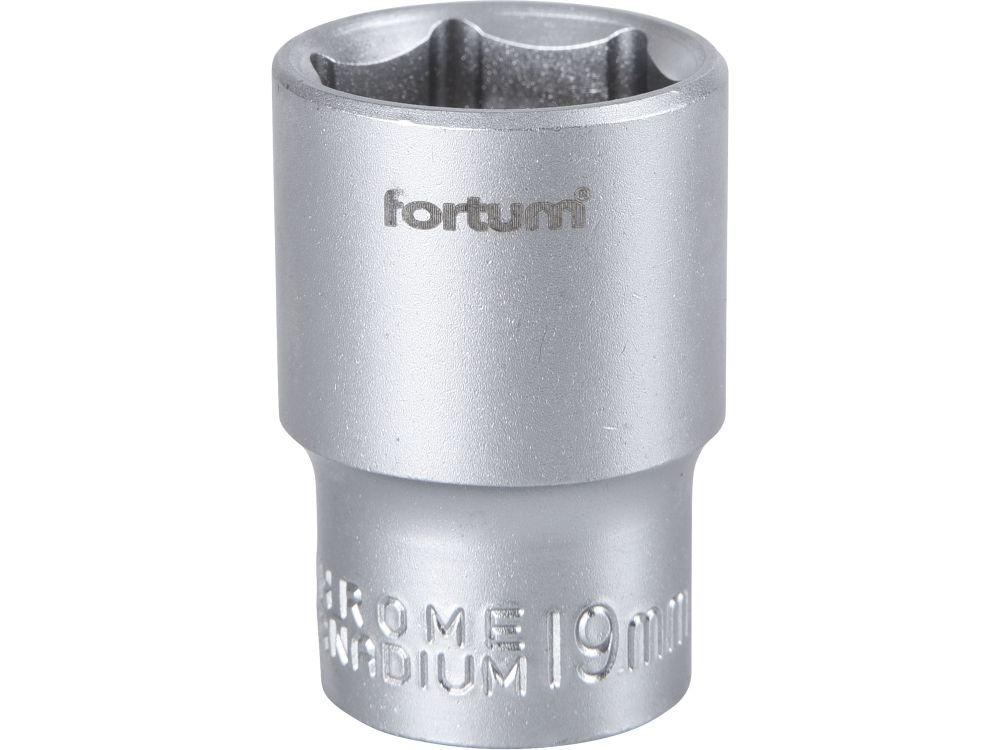 Klíč nástrčný, 1/2', 19,0mm, L 38mm, 61CrV5, FORTUM *HOBY 0.09Kg 4700419