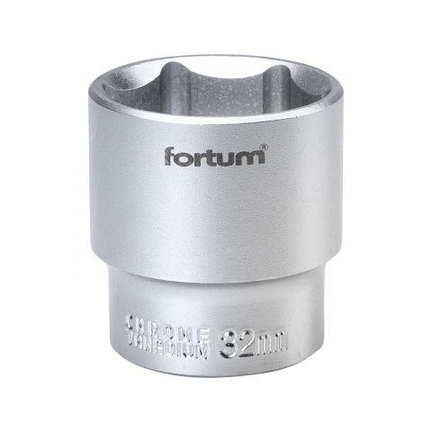 Klíč nástrčný, 1/2', 32,0mm, L 44mm, 61CrV5, FORTUM
