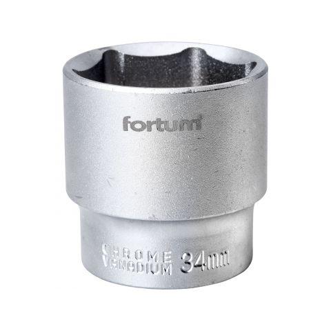 Klíč nástrčný, 1/2', 34,0mm, L 44mm, 61CrV5, FORTUM