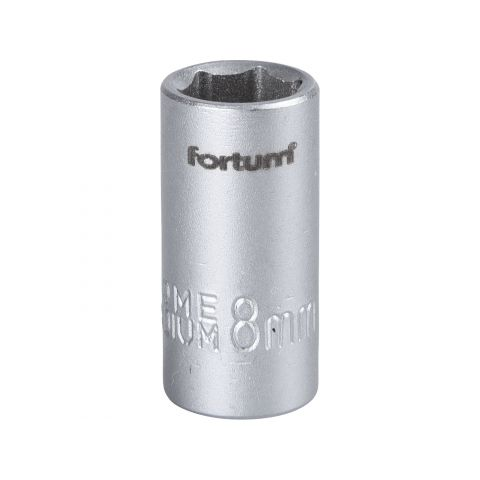 Klíč nástrčný, 1/4', 8,0mm, L 25mm, 61CrV5, FORTUM