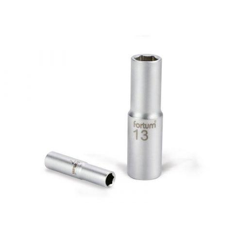 Klíč nástrčný prodloužený, 1/2', 10mm, L 77mm, 61CrV5, FORTUM
