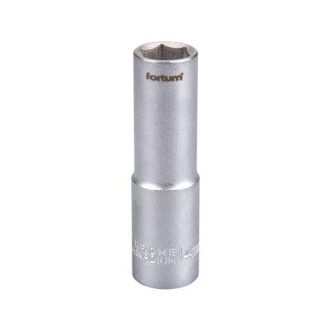 Klíč nástrčný prodloužený, 1/2', 14mm, L 77mm, 61CrV5, FORTUM