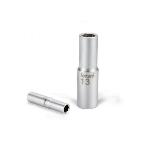 Klíč nástrčný prodloužený, 1/4', 11mm, L 50mm, 61CrV5, FORTUM