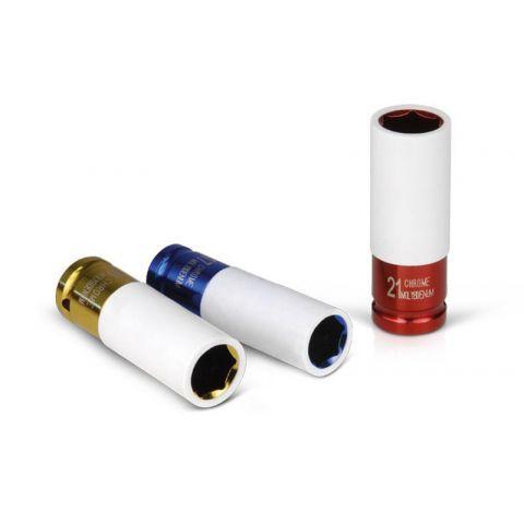 """Klíč nástrčný rázový, 1/2"""", 19mm, L 86mm, ultratenká stěna, CrMoV, FORTUM"""