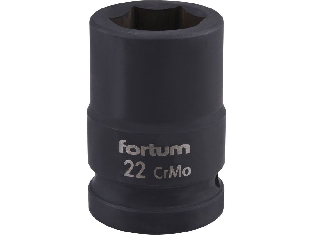 "Klíč nástrčný rázový, 3/4"", 22mm, L 52mm, CrMoV, FORTUM *HOBY 0.35Kg 4703022"