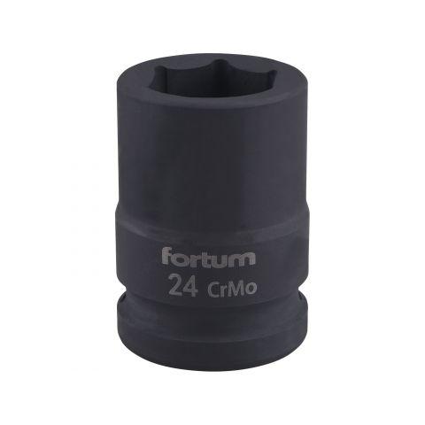 """Klíč nástrčný rázový, 3/4"""", 24mm, L 52mm, CrMoV, FORTUM"""