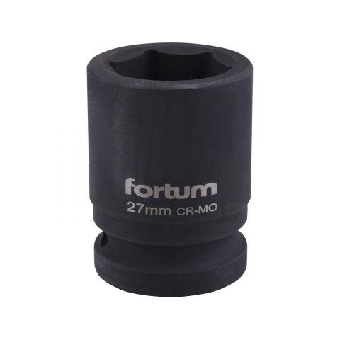"""Klíč nástrčný rázový, 3/4"""", 27mm, L 52mm, CrMoV, FORTUM"""