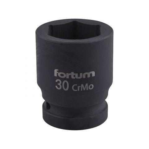 """Klíč nástrčný rázový, 3/4"""", 30mm, L 54mm, CrMoV, FORTUM"""