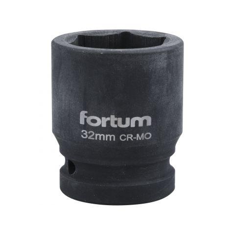 """Klíč nástrčný rázový, 3/4"""", 32mm, L 54mm, CrMoV, FORTUM"""
