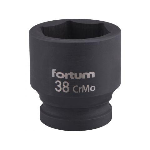 """Klíč nástrčný rázový, 3/4"""", 38mm, L 57mm, CrMoV, FORTUM"""