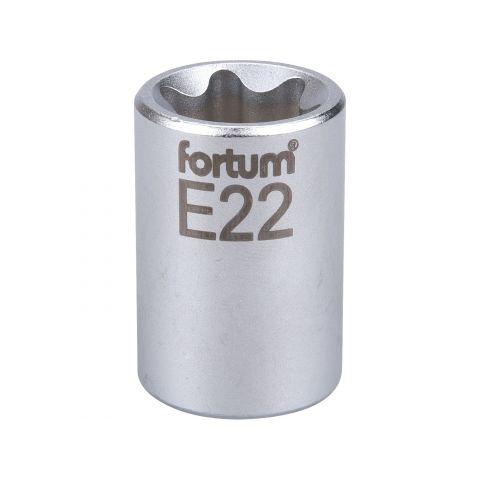 Klíč nástrčný vnitřní TORX, 1/2', E22, L 38mm, 61CrV5, FORTUM