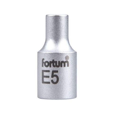 Klíč nástrčný vnitřní TORX, 1/4', E5, L 25mm, 61CrV5, FORTUM