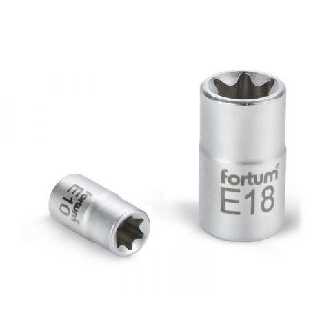 Klíč nástrčný vnitřní TORX, 1/4', E6, L 25mm, 61CrV5, FORTUM