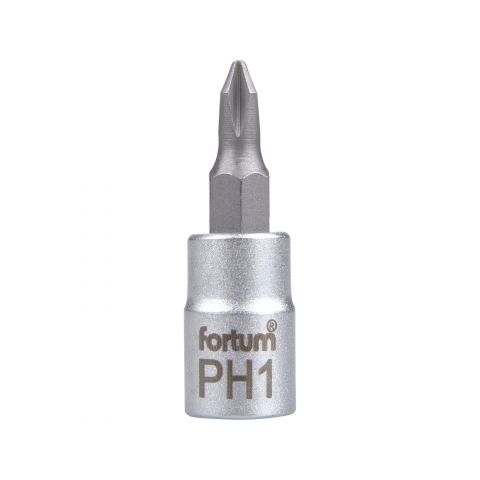 Klíč zástrčný šroubovák PH, 1/4', PH1, L 37mm, CrV/S2, FORTUM