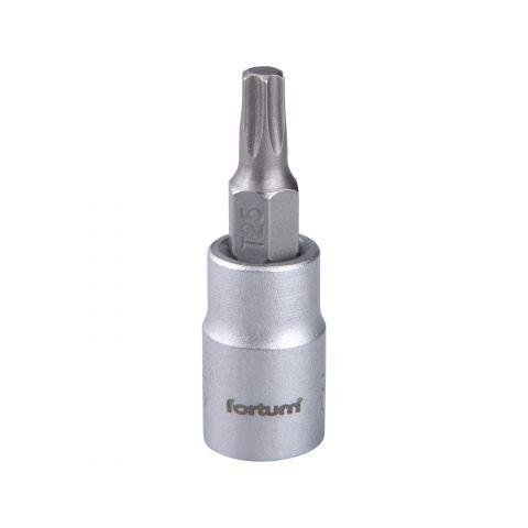 Klíč zástrčný TORX, 1/4', TX25, L 37mm, CrV/S2, FORTUM