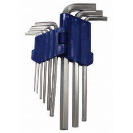 Klíče imbus zahnuté 1,5 -10 mm délka 77-168mm MAR-POL