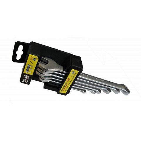Klíče očkoploché 6-17mm, sada 6ks, BASS