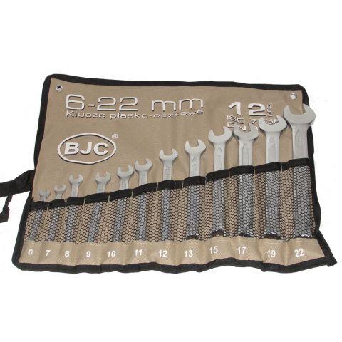 Klíče očkové-otevřené 12ks 6-22mm CrV BJC, skládací obal