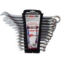 Klíče očkové-otevřené 12ks 6-22mm CrV MAR-POL, klip
