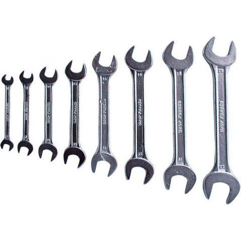 Klíče ploché, sada 12ks, 6-32mm, W.S., EXTOL CRAFT