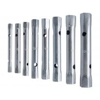 Klíče trubkové, sada 8ks, 6-22mm, 2 kusy vratidel, nylonové pouzdro, CrV, EXTOL PREMIUM
