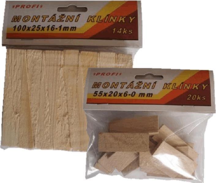 Klínky montážní BK 0-12/65x18m/20ks *HOBY 0Kg 104006