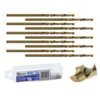 Kobaltový vrták do kovu HSS-Co, DIN 338, 1,5mm, 10ks GEKO
