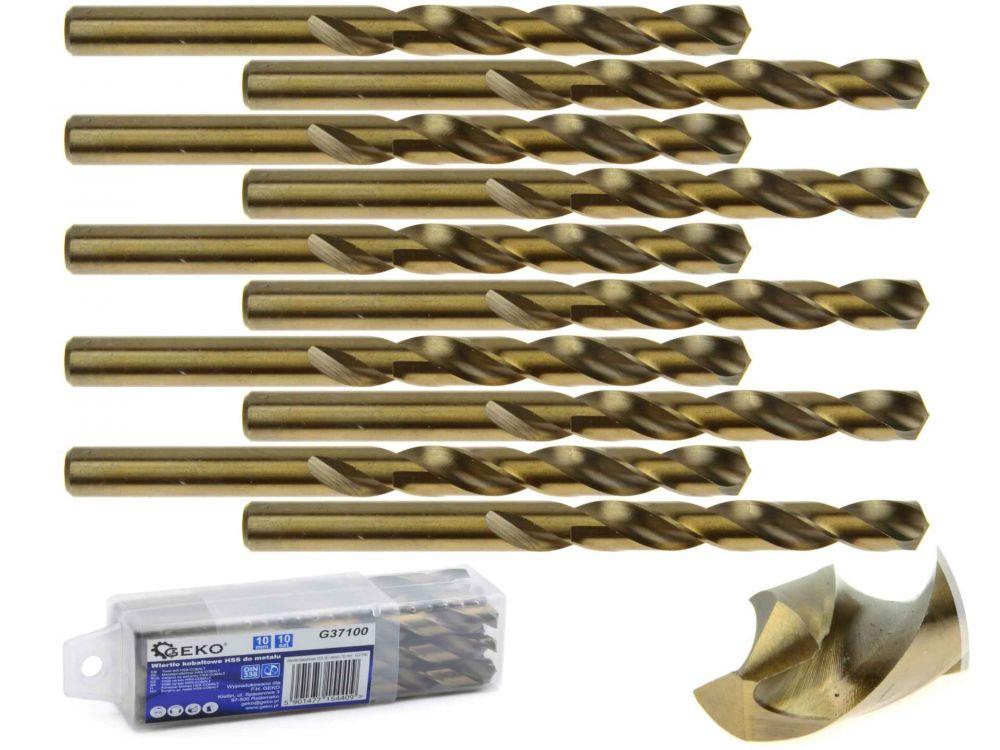 Kobaltový vrták do kovu HSS-Co, DIN 338, 10mm, 10ks GEKO Nářadí-Sklad 1 | 0