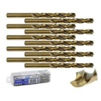 Kobaltový vrták do kovu HSS-Co, DIN 338, 10mm, 10ks GEKO