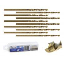Kobaltový vrták do kovu HSS-Co, DIN 338, 2,5mm, 10ks GEKO