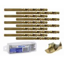 Kobaltový vrták do kovu HSS-Co, DIN 338, 8mm, 10ks GEKO