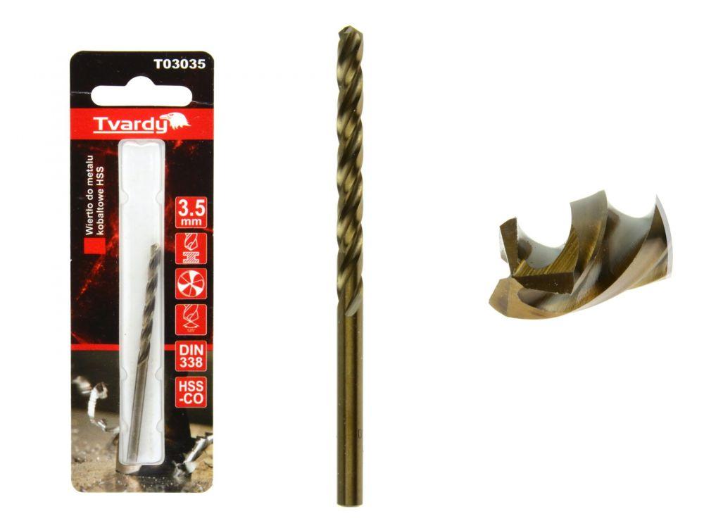 Kobaltový vrták do kovu HSS-Co, M35, 3,5mm TVARDY
