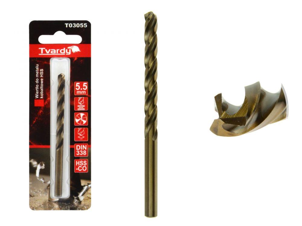 Kobaltový vrták do kovu HSS-Co, M35, 5,5mm TVARDY