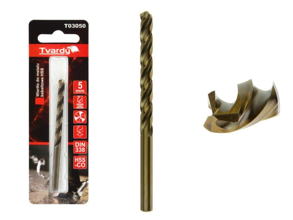 Kobaltový vrták do kovu HSS-Co, M35, 5mm TVARDY
