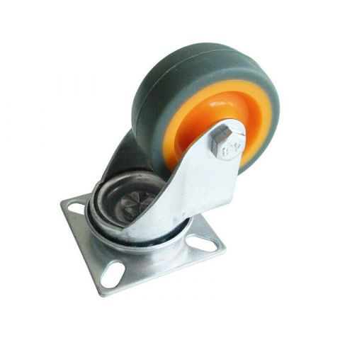 Kolečko termoplast otočné, Ø 50mm, šířka 18mm, rozměr kovové základny 50x50mm, výška 72mm, nosnost 35kg