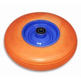 Kolo nenafukovací plné - oranžové PU 4,00-6, osa 20mm