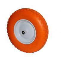 Kolo nenafukovací plné - oranžové PU 4,00-8