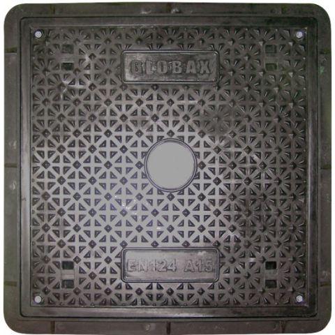 Kompozitní poklop B125 Js 600x600 - černý KAXL