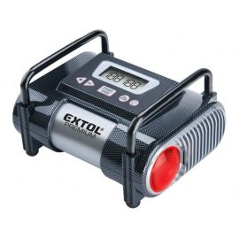 Kompresor do auta 12V, 9,6bar s LED světlem CC 140 EXTOL PREMIUM