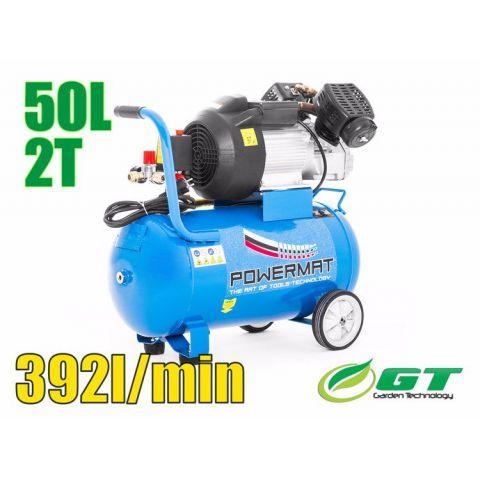 Kompresor olejový dvoupístový 50l 2,2kW 230V POWERMAT