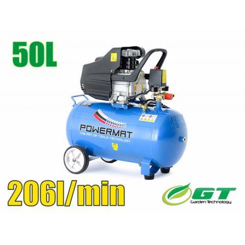 Kompresor olejový jednopístový 50l 1,85kW 230V POWERMAT