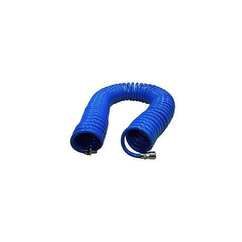 Kompresorová hadice - spirála, 20m, s rychlospojkami, BASS