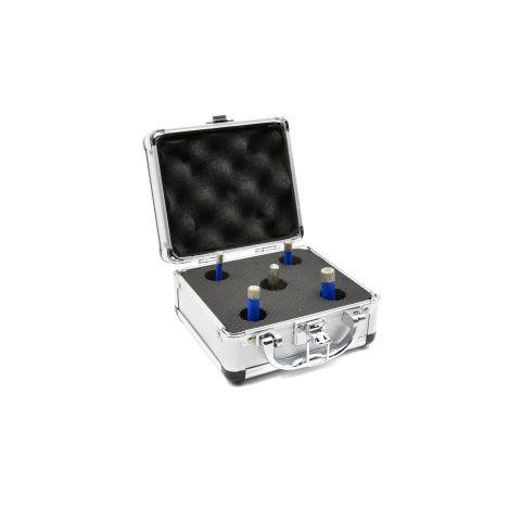 Korunkový vrták diamantový, sada 5ks, 6-12mm GEKO