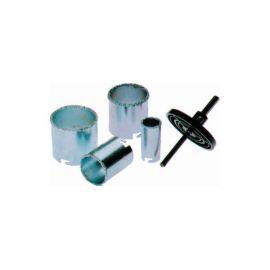 Korunkový vykružovač děr 33, 53, 67, 73 mm na dlažbu