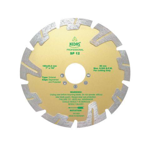 Kotouč diamantový řezný 180x22,2x10mm SP 12 KEDAS