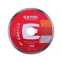 Kotouč diamantový řezný celoobvodový, 115x22,2mm, EXTOL PREMIUM