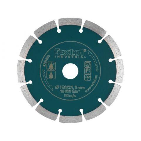 Kotouč diamantový řezný segmentový Grab Cut, 125x22,2mm, suché řezání, EXTOL INDUSTRIAL
